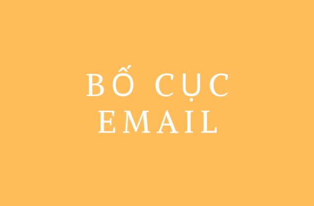 Bố cục email giới thiệu sản phẩm