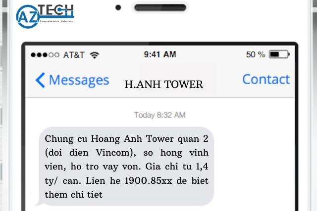 Mẫu tin nhắn bất động sản