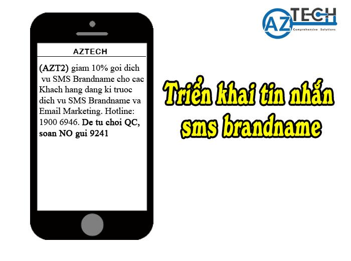 triển khai dịch vụ sms brandname