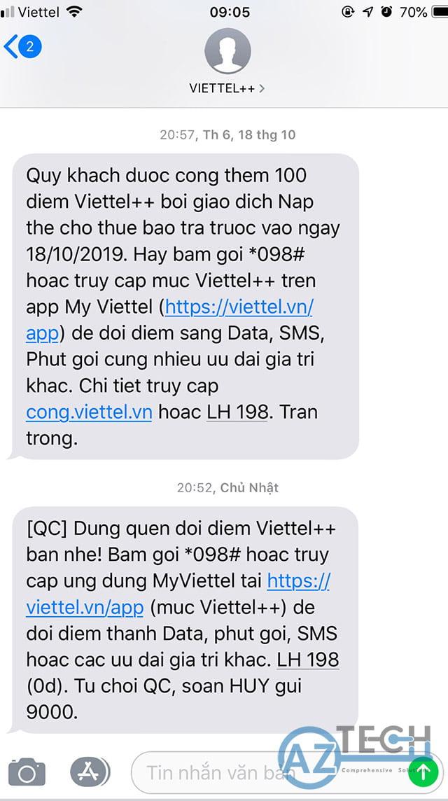 Từ chối quảng cáo Viettel